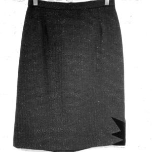 Escada Couture wool pencil skirt with shimmer